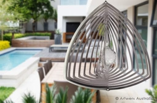 Crystal Curved Triangle wind spinner from Artwerx