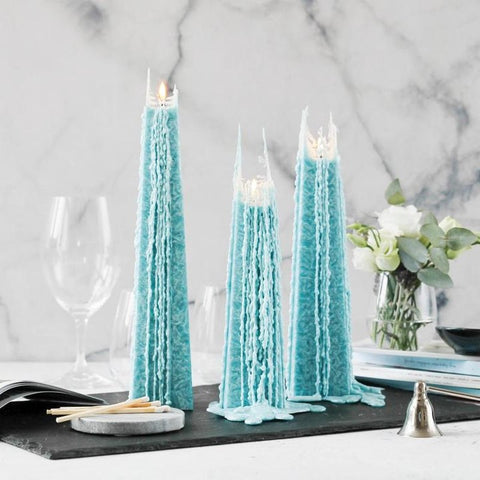 Icicle Candle - Ocean Sage