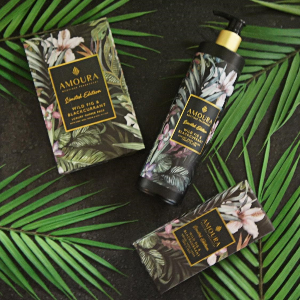 Wild Fig and Blackcurrant body products from Amoura