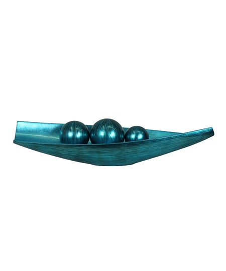 Canoe platter in line turquoise from Something Swish