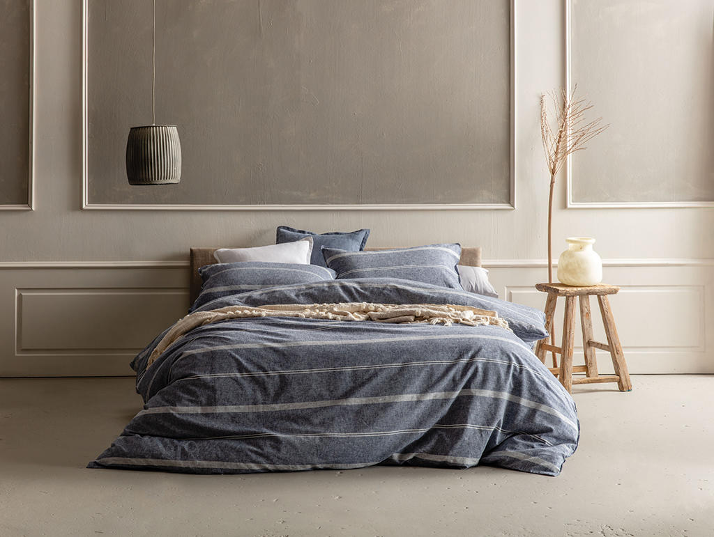 Balmoral navy quilt cover set from Kas