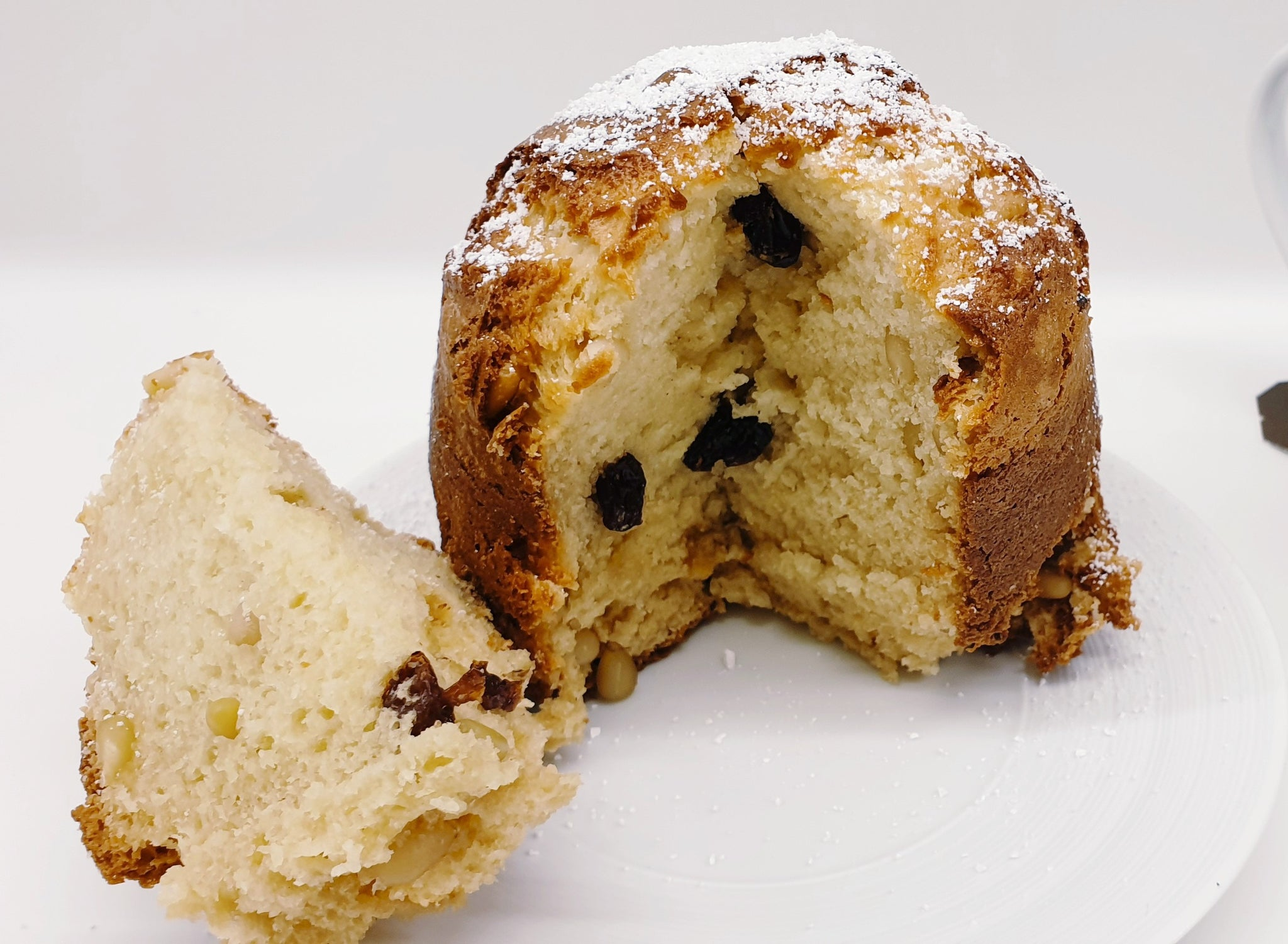 Baked Ricotta Cake with Raisins and Pine Nuts