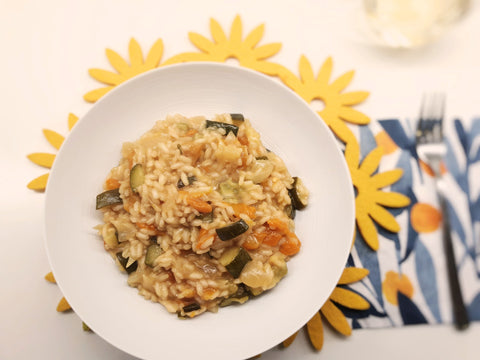 Risotto with Courgettes and Peppers (Tue 1 Jun)
