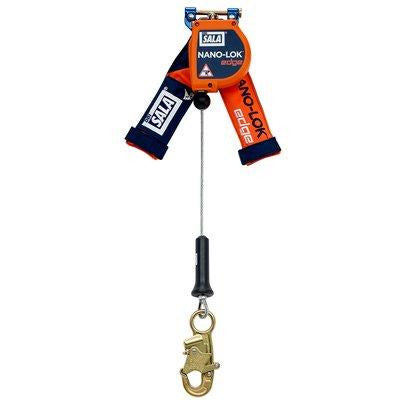 3M™ DBI-SALA® Nano-Lok™ Edge Self Retracting Lifeline, Cable, Quick Connect, 8 ft (2.4 m) web