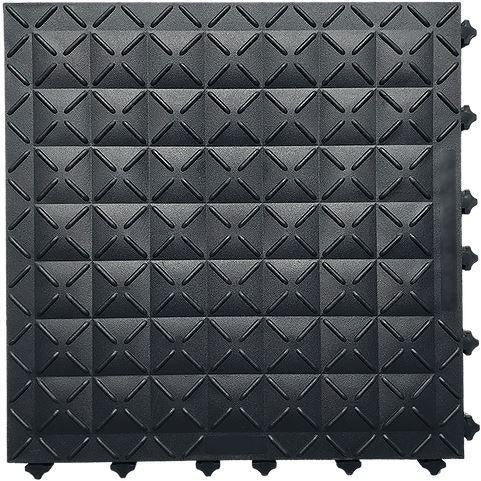 "Ergo Advantage Closed Black 18""x18"" Ergonomic Tile (Box of 10)"