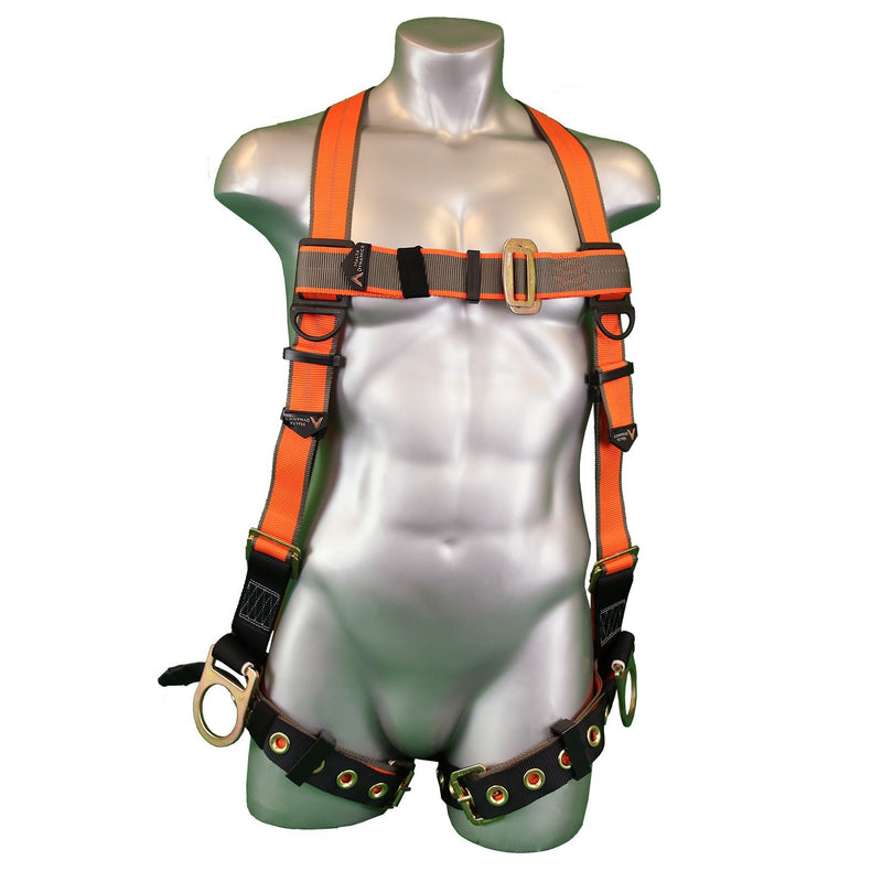 Warthog® Positioning H-Style Full Body Harness with Tongue and Buckle Legs