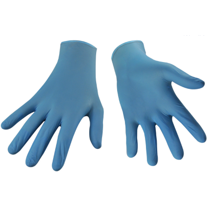 Blue Nitrile Gloves, 3.5 Mil, Powder Free (Box of 100)