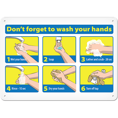Don't forget to wash your hands sign