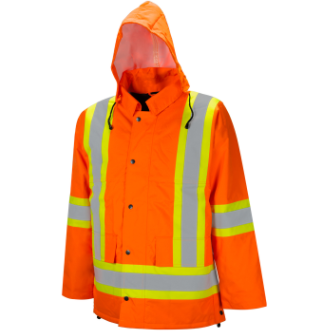 Orange Winter Traffic Parka
