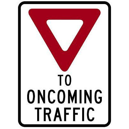 Avery High Intensity Yield to Oncoming Traffic Roll Up Sign with Ribset