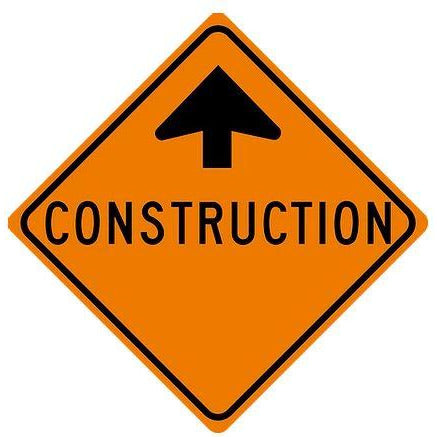 Avery Diamond Grade Construction Ahead Roll Up Sign with Ribset