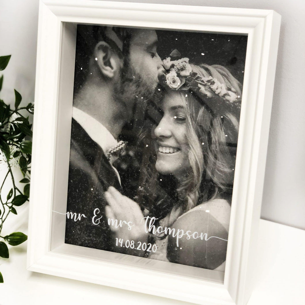 Wedding Diamond Dust Box Frame