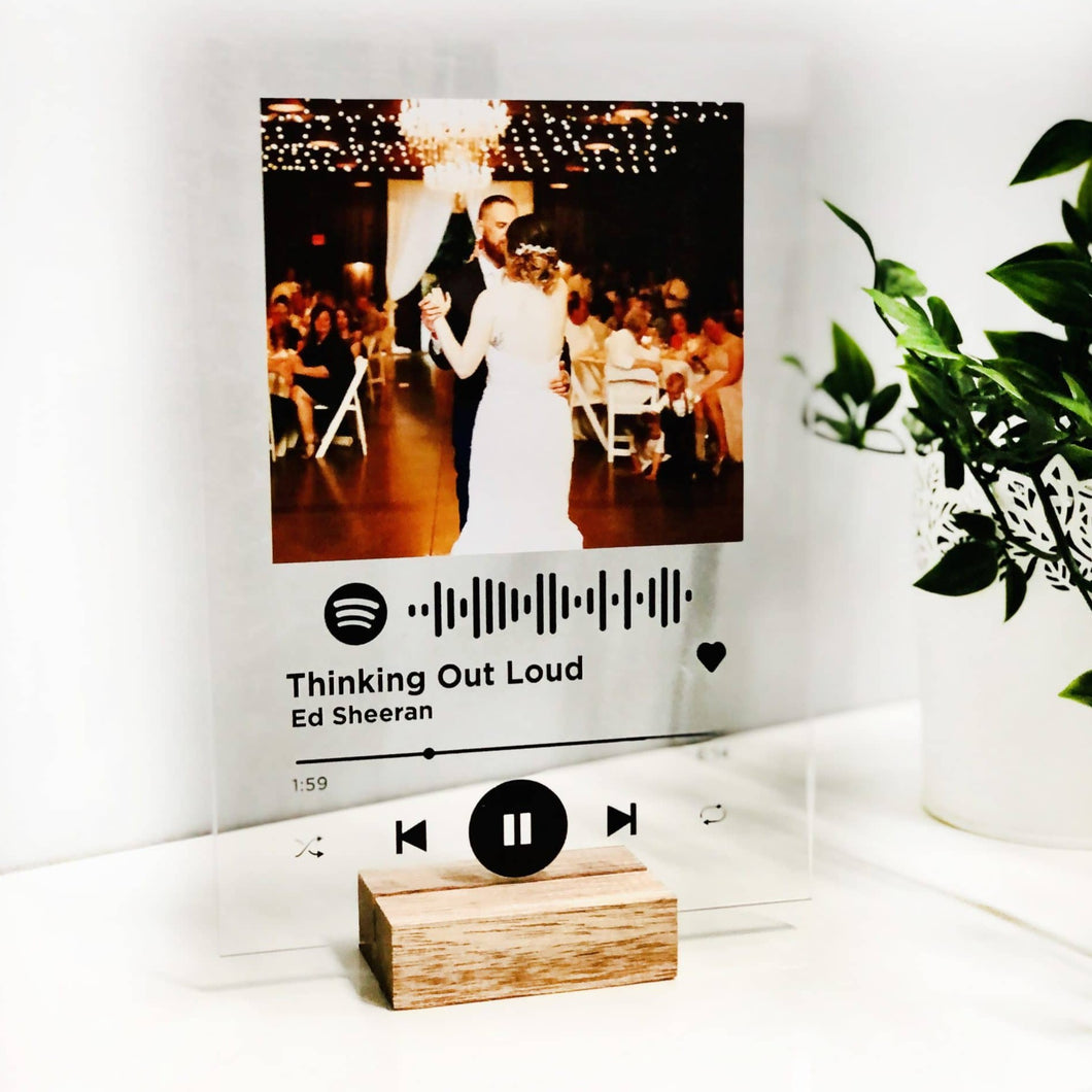 Personalised Spotify Acrylic Song Plaque