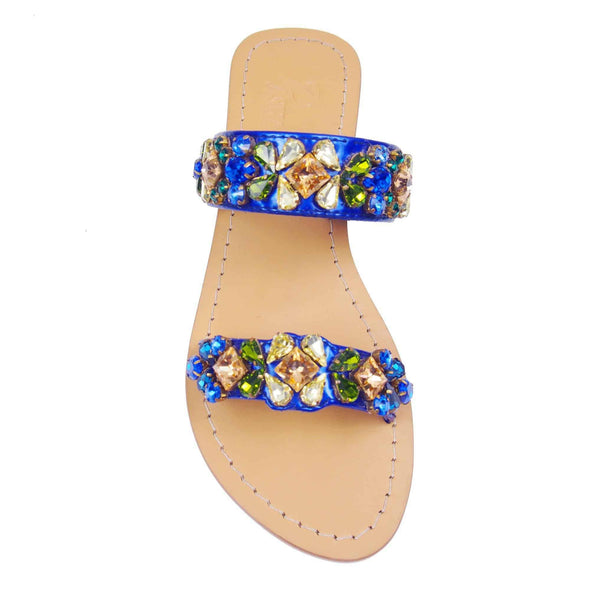 Royal Blue Jewel Sandals