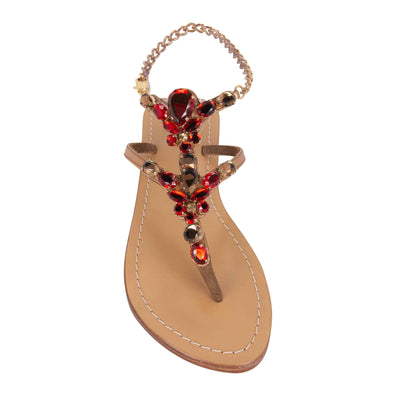 Topaz Metallic Bronze Jewel Sandal