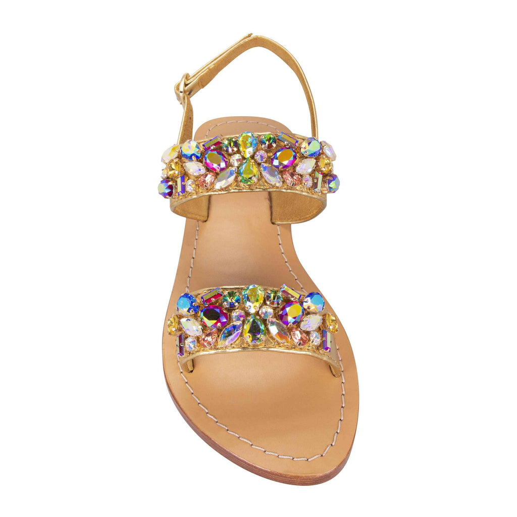Rainbow Gold Jewel Sandals