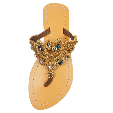 Dark Bronze Jewel Sandals