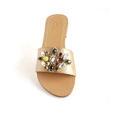 Multi Gold Jewel Sandals