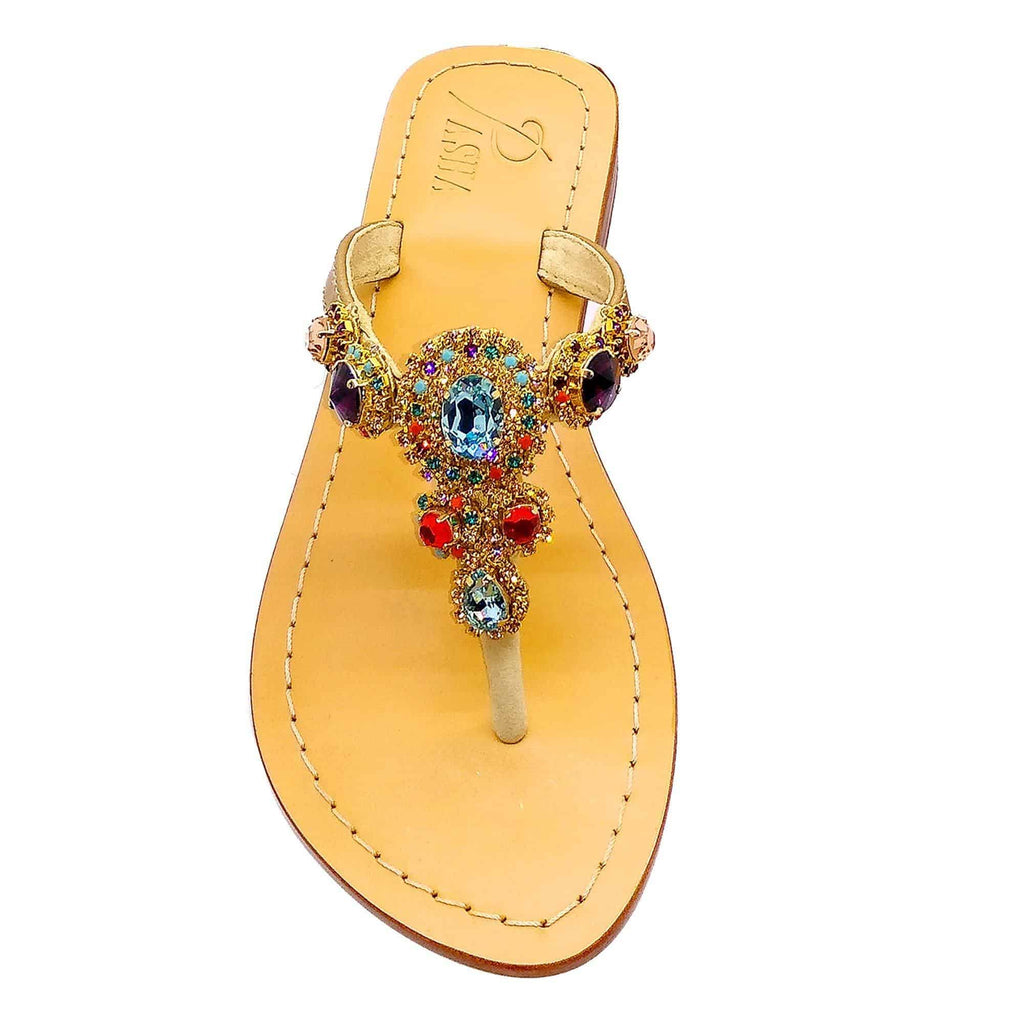 Concha Multi Gold Jewel Sandals