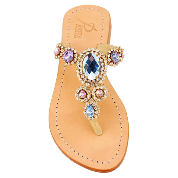 Corinth Rose Blue Sandals