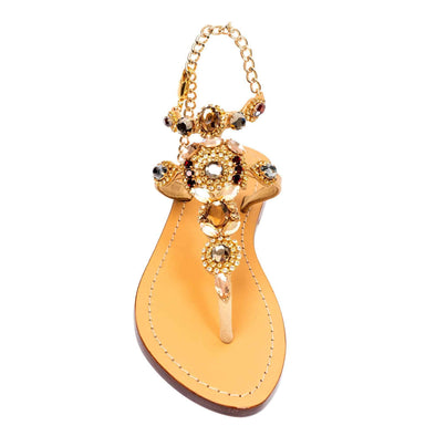 Smokie Topaz Gold Sandals