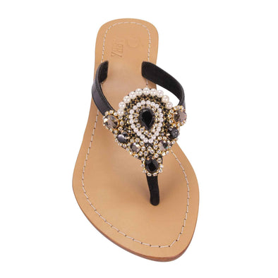 Greige Black Sandals