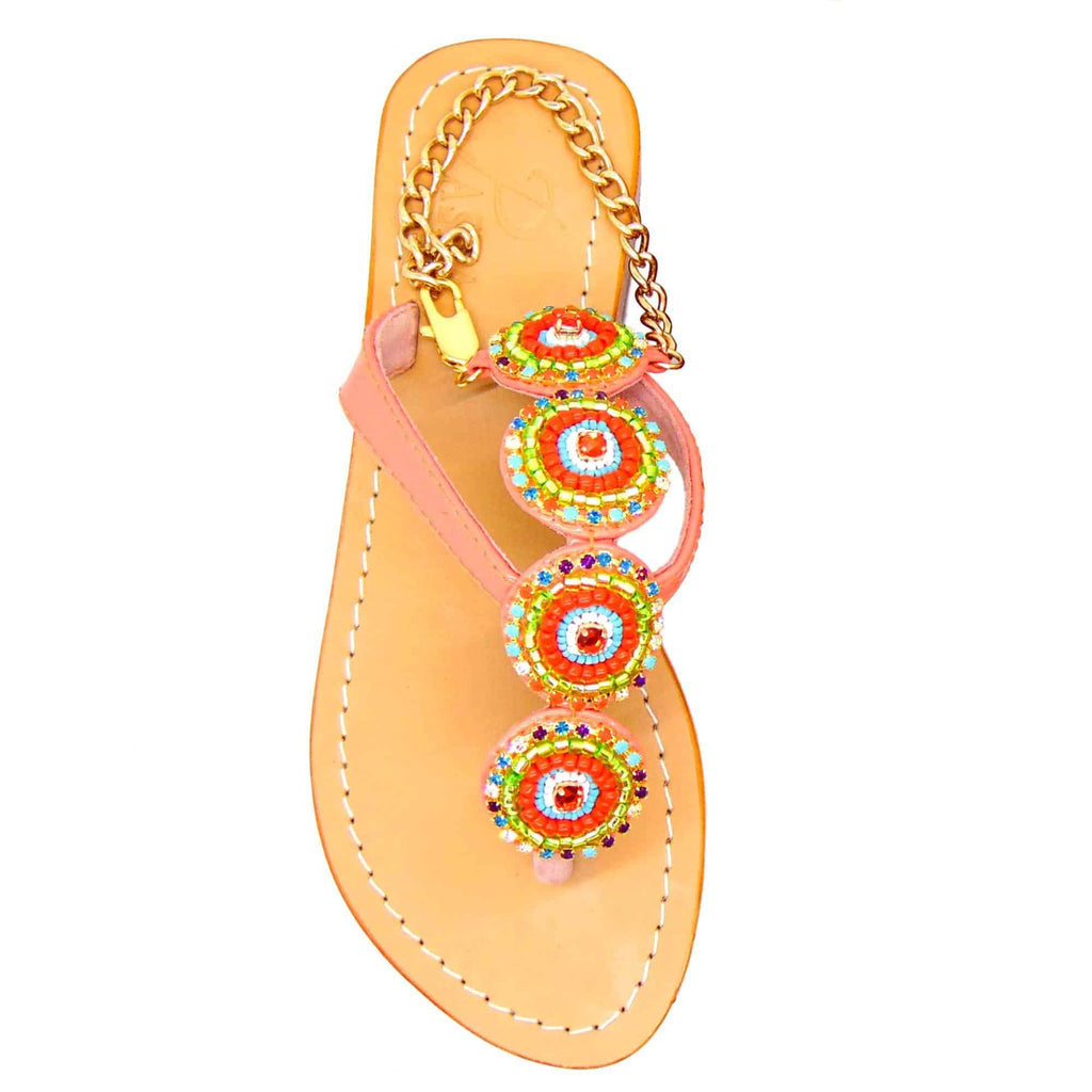 Husvik Oriential Living Coral Sandals