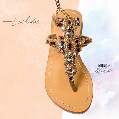 Lichades Metallic Bronze Sandals