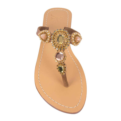 Oreke Gold Metallic Bronze Sandals