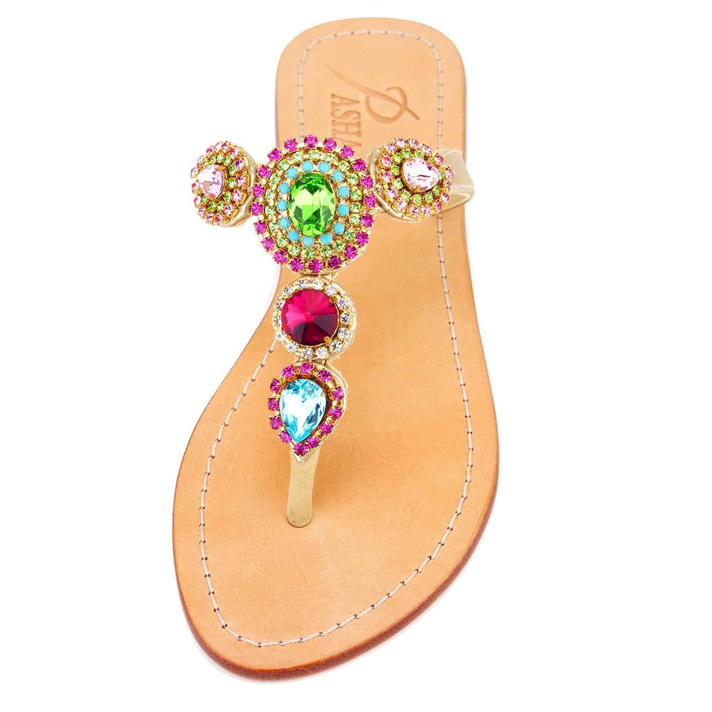 Oreke Rainbow Gold Sandals