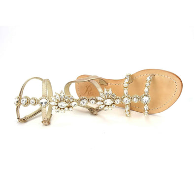 Oronsay Clear Gold Sandals