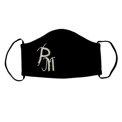 Double Monogram Personalized Face Cover