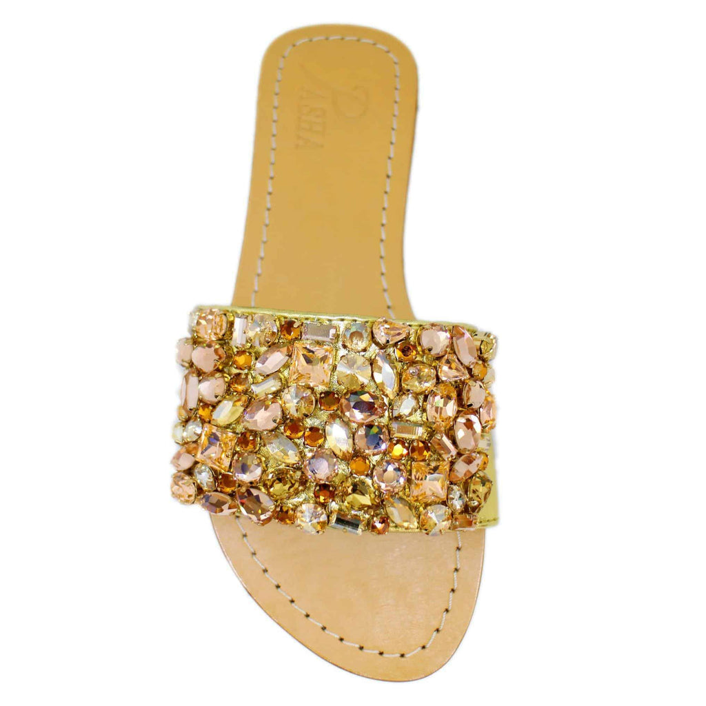 Salsette SHadow Gold Jewel Sandals