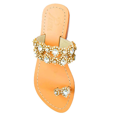 Syrna Gold Sandals