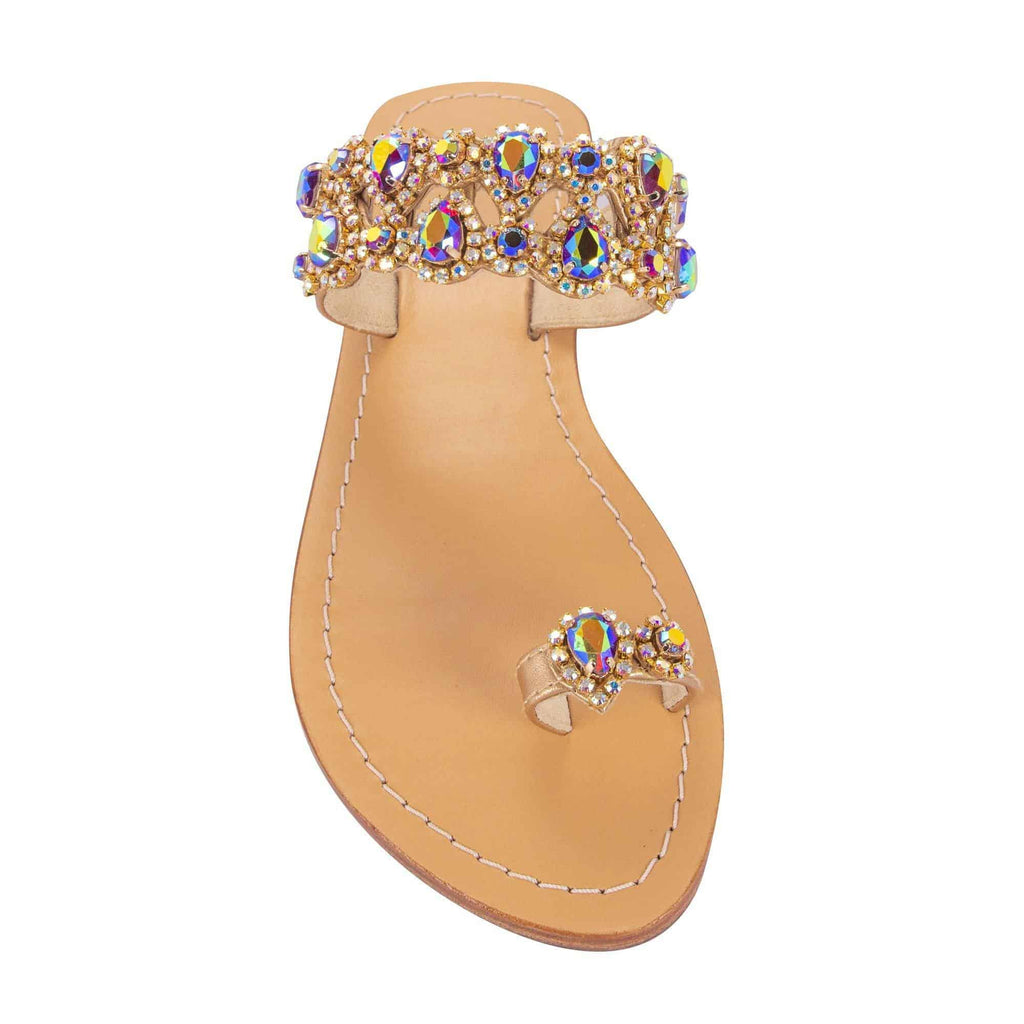 Syrna Fuchsia Gold Sandals
