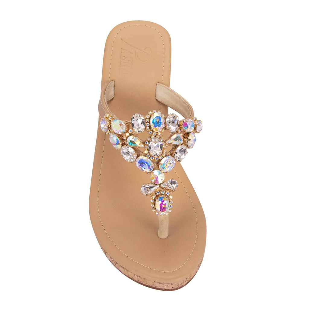 Teopan Gold Sandals