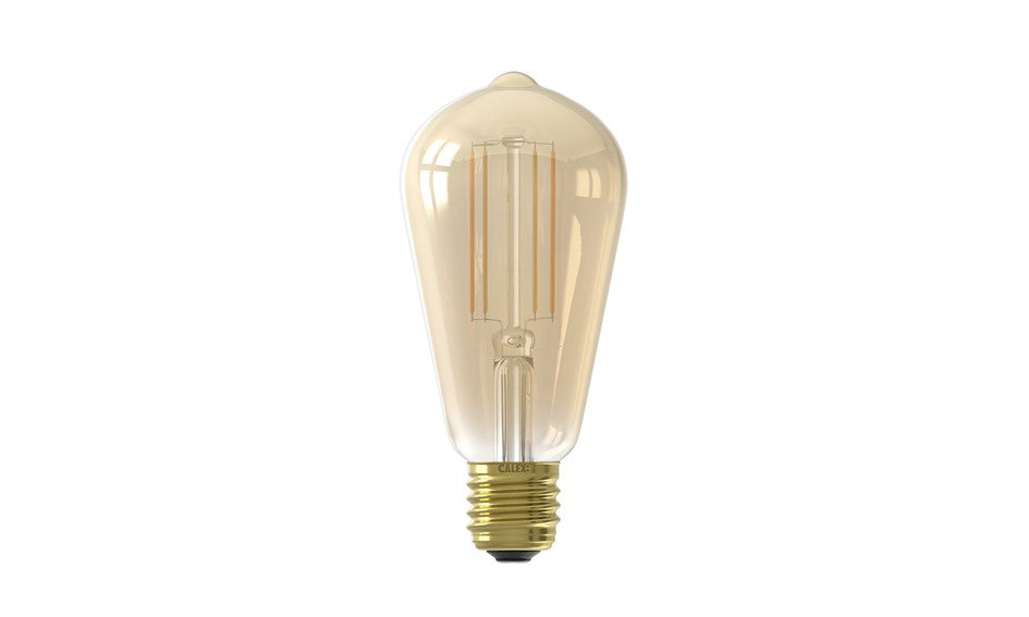 Goud Smart serie Calex LED lang E27 7W