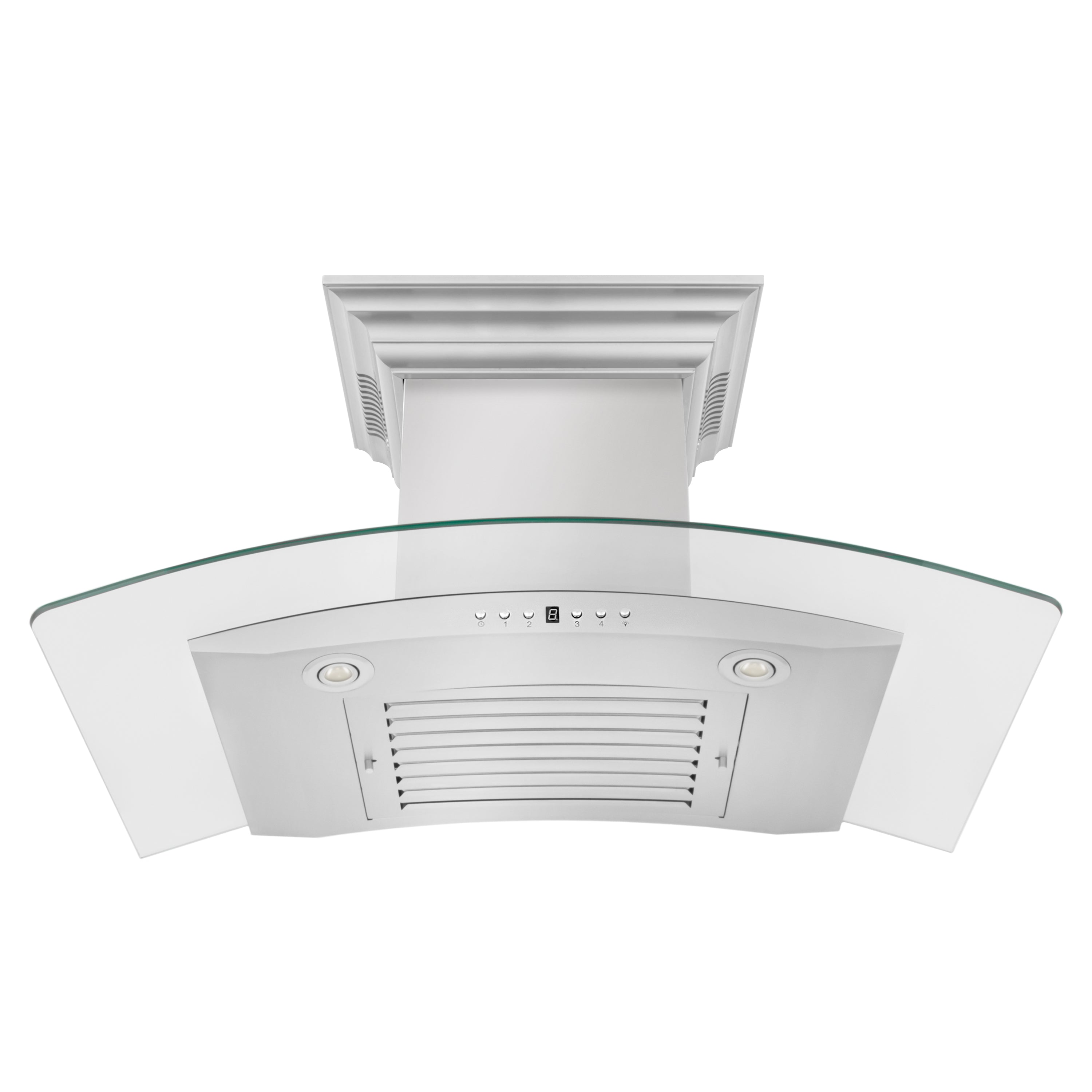 ZLINE Wall Mount Range Hood in Stainless Steel with Built-in CrownSound™ Bluetooth Speakers (KN4CRN-BT)