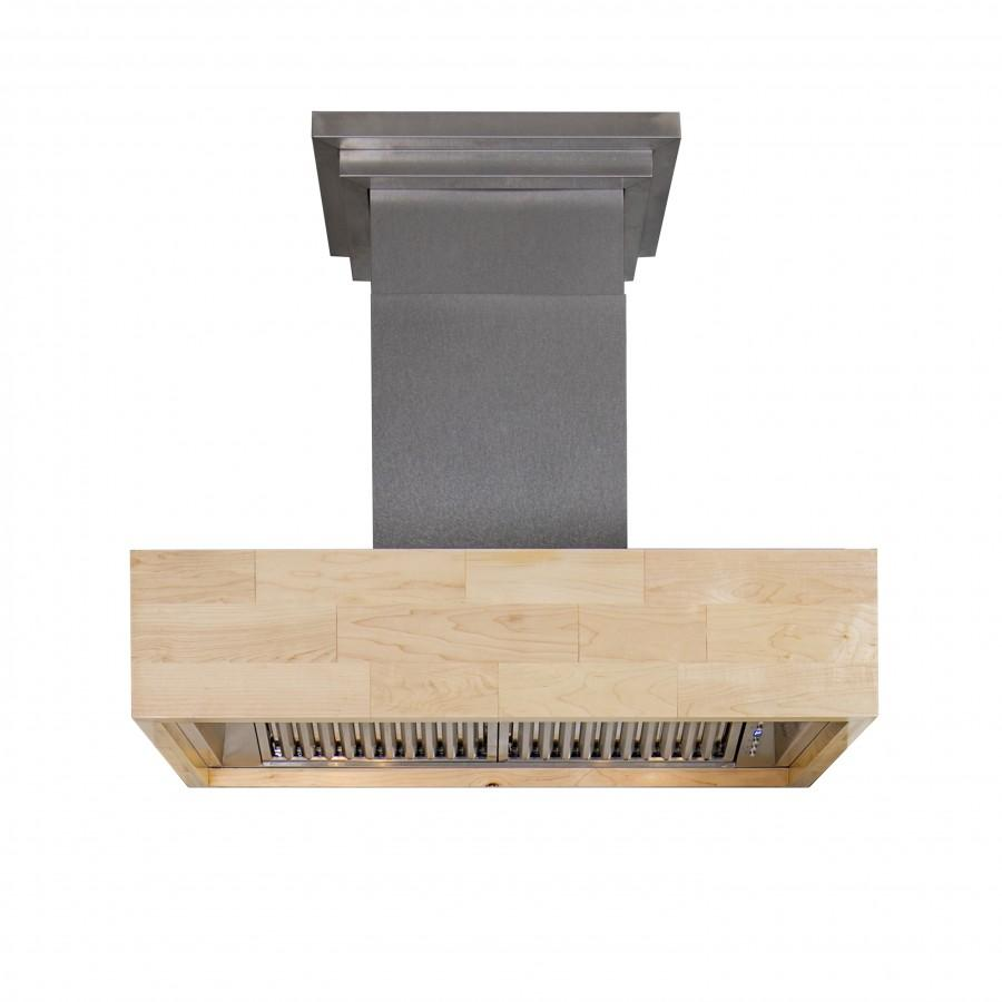 ZLINE Kitchen and Bath, ZLINE Designer Series Wooden Wall Mount Range Hood in Butcher Block (681M), 681M-30,