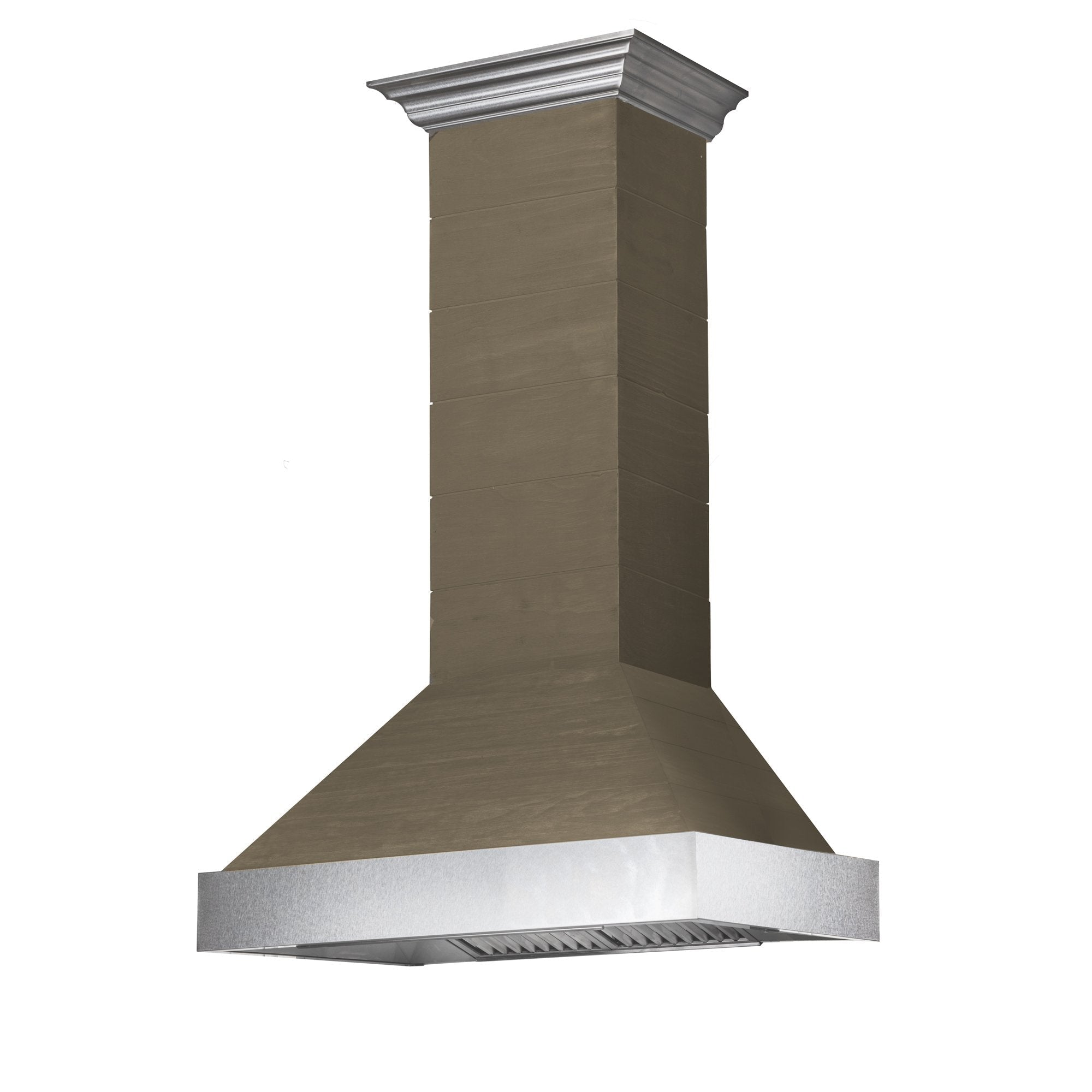 ZLINE Shiplap Wooden Wall Range Hood with Stainless Steel Accent (365YY)