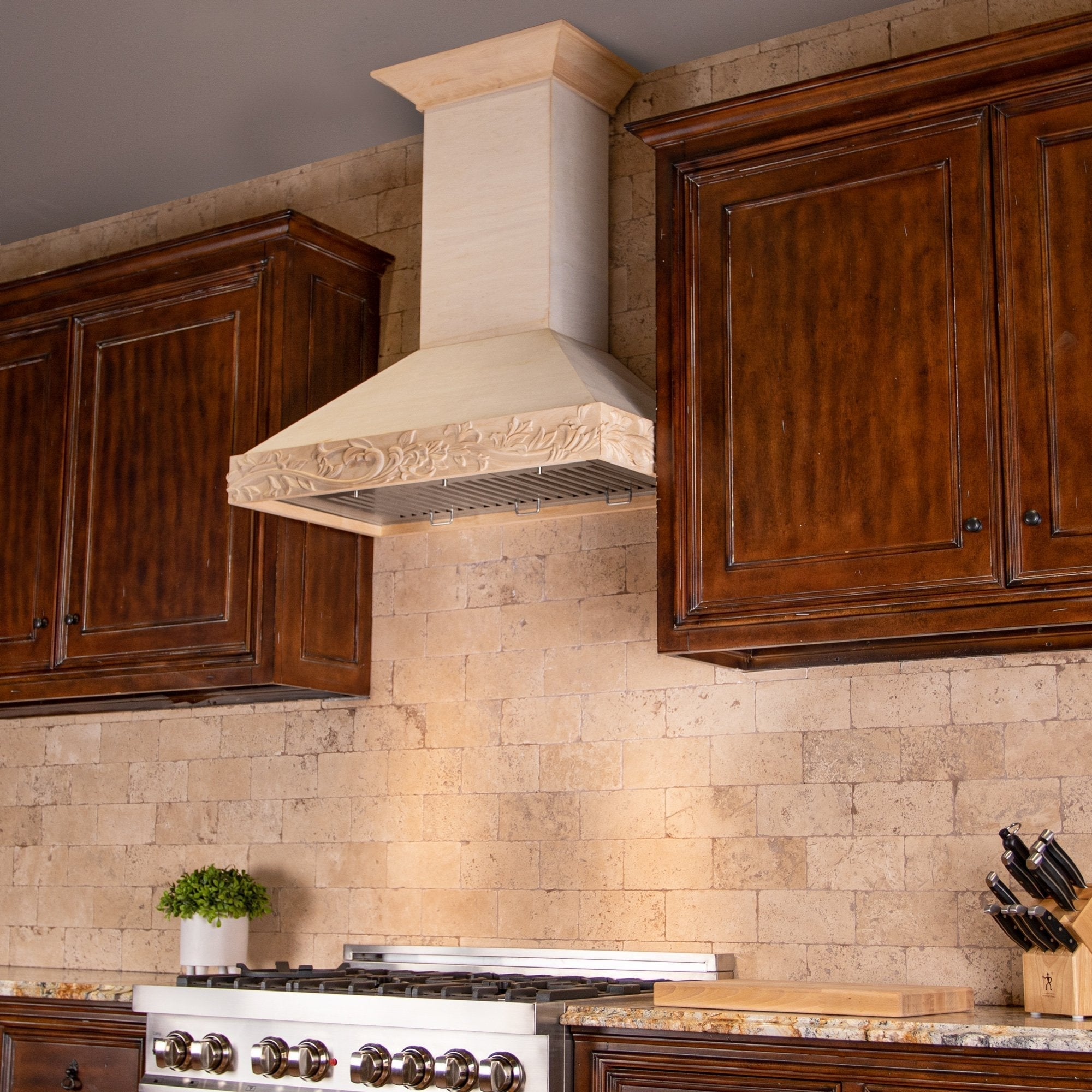 ZLINE Kitchen and Bath, ZLINE Unfinished Wooden Wall Mount Range Hood - Includes Motor (KBUFC), KBUFC-30,
