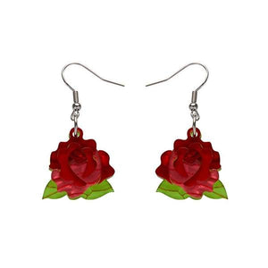 Budding Romance Rose Drop Earrings