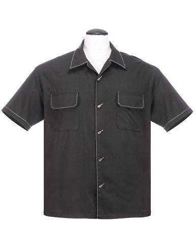 The Musician Bowling Shirt in Black