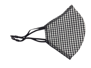Face Mask, Black Gingham
