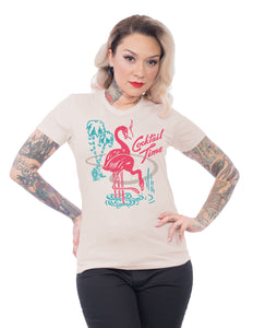 Cocktail Time Women's Tee in Ivory