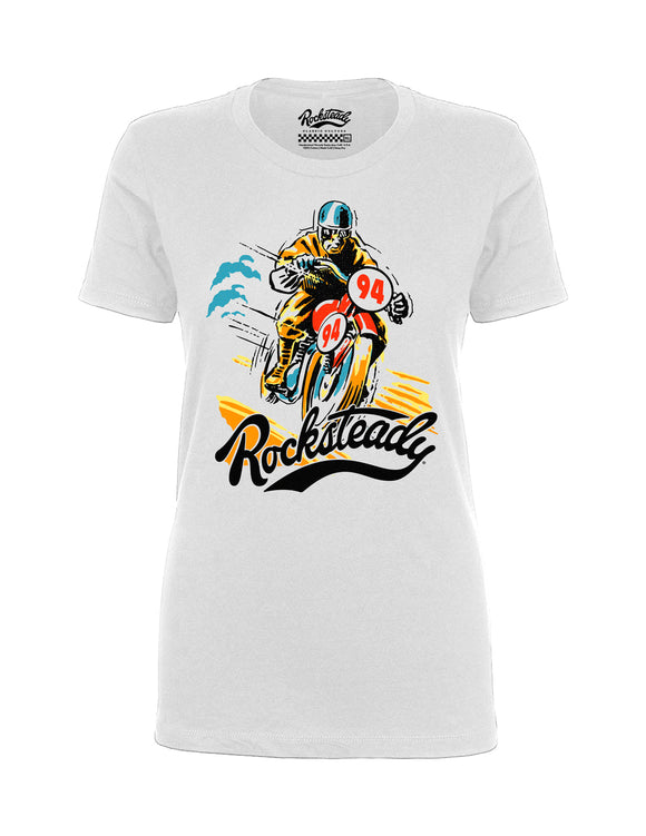 Rocksteady Solo Racer Women's Tee in White