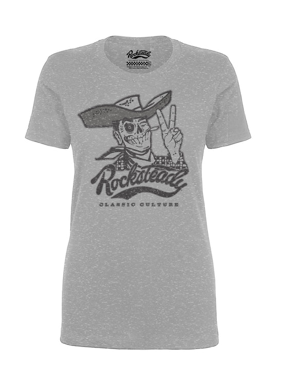 Rocksteady Howdy Women's Tee in Heather Grey