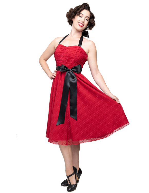 Follow Your Heart Strapless Dress in Red