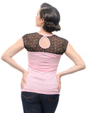 Fancy Hearts Top in Pink