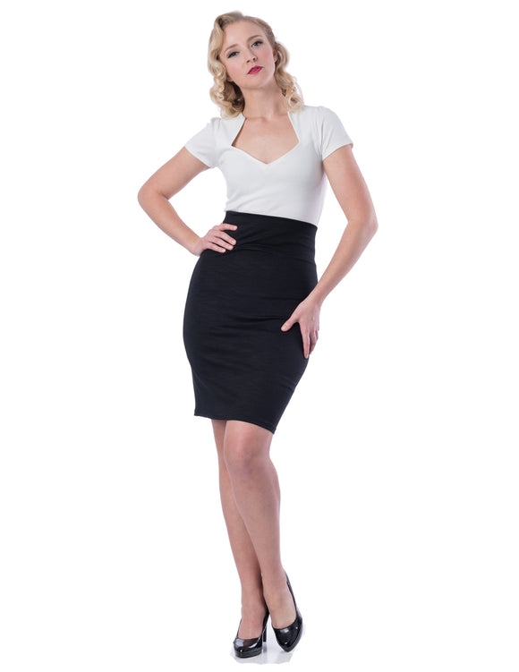 Audrey Pencil Skirt in Black